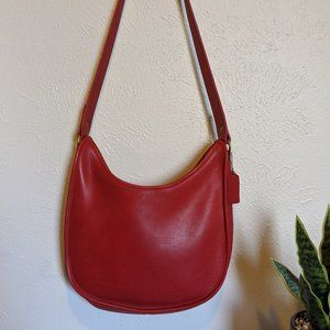 Vintage red coach bag